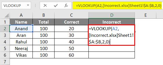 VLookup Function