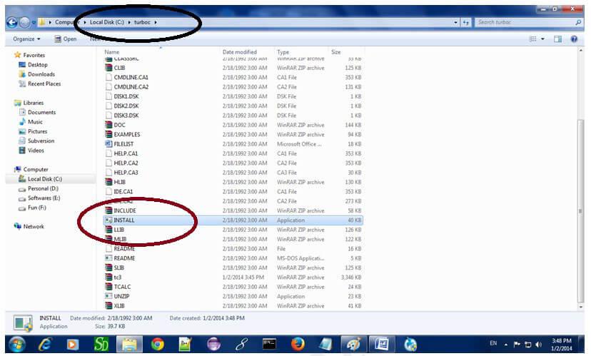 Create turbo c directory