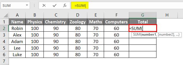 Ctrl D in Excel Example 2-2