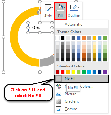 Doughnut Chart in Excel Example 1-12