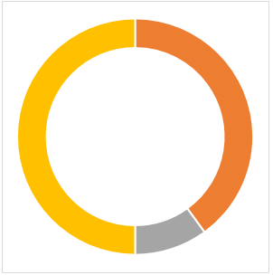 Doughnut Chart in Excel Example 1-5