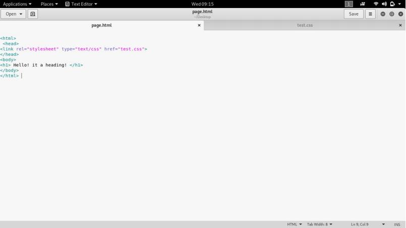 External CSS HTML file input