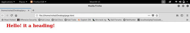 External CSS file Output