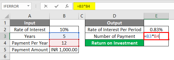 FV Formula Example 1-4