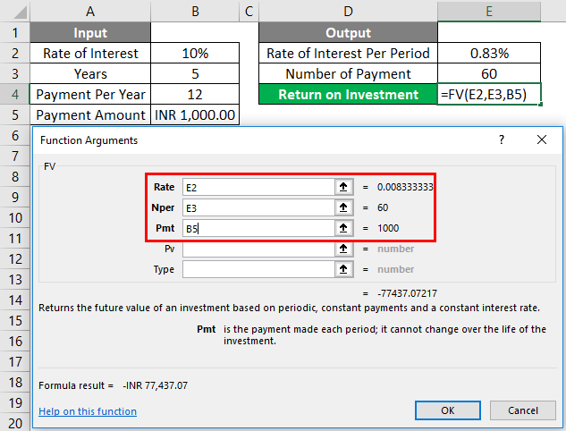 FV Formula Example 1-8
