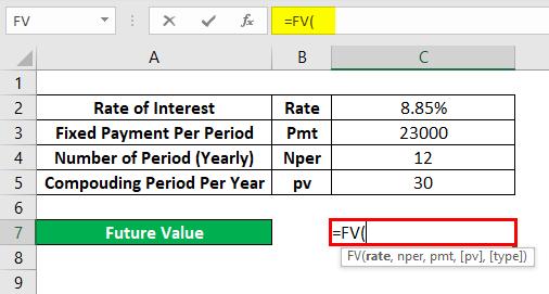 FV Formula Example 2-2