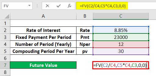 FV Formula Example 2-3
