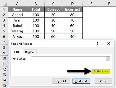 Find External Links in Excel Example 1-2