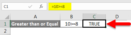 Greater than or equal to example 5-1