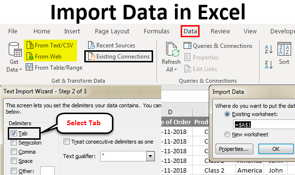 Import Data In Excel