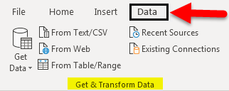 Import Data In Excel example 1-1