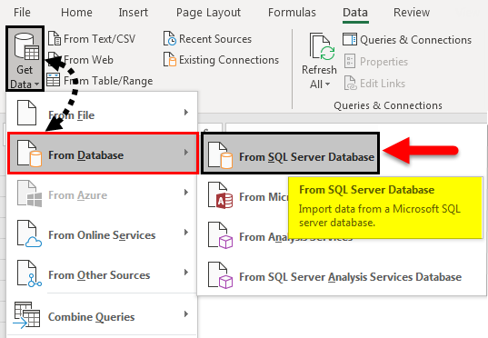 Import Data In Excel example 1-2