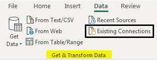 Import Data In Excel example 1-3