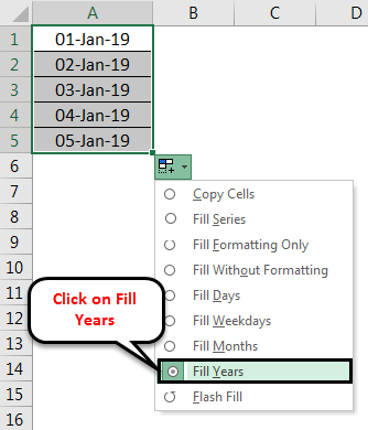 Fill Years