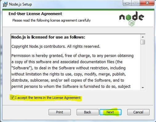 Accept terms in the License Agreement