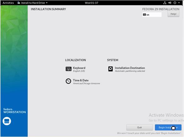 Install Fedora 11