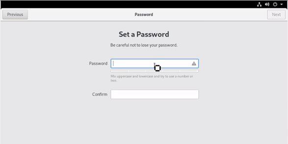 Setup a Password for the login