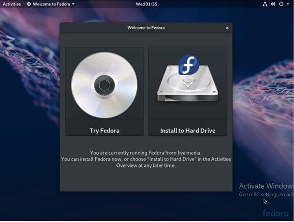 Install Fedora 7