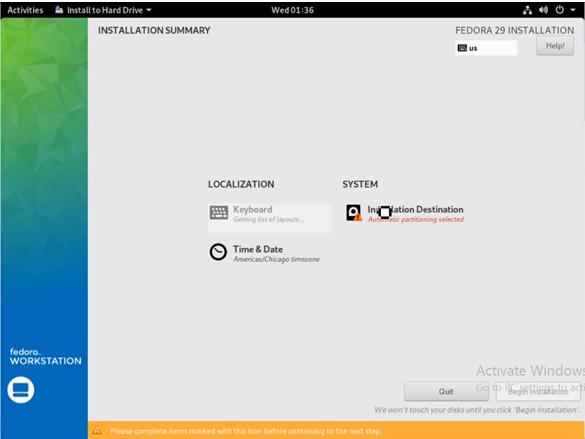 Install Fedora 9