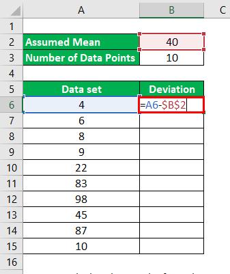 Calculation of Deviations