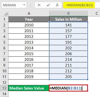 Median Example 2-2
