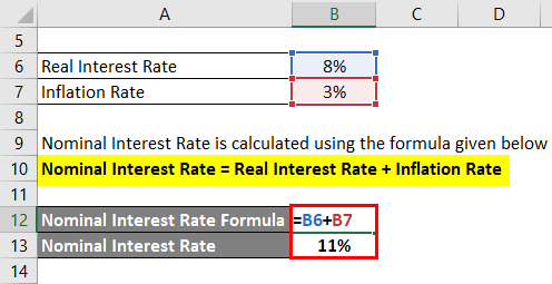 Calculation of Nominal Interest Rate 2