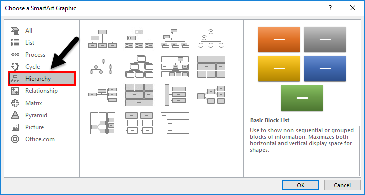 Organization Chart Example 1-3