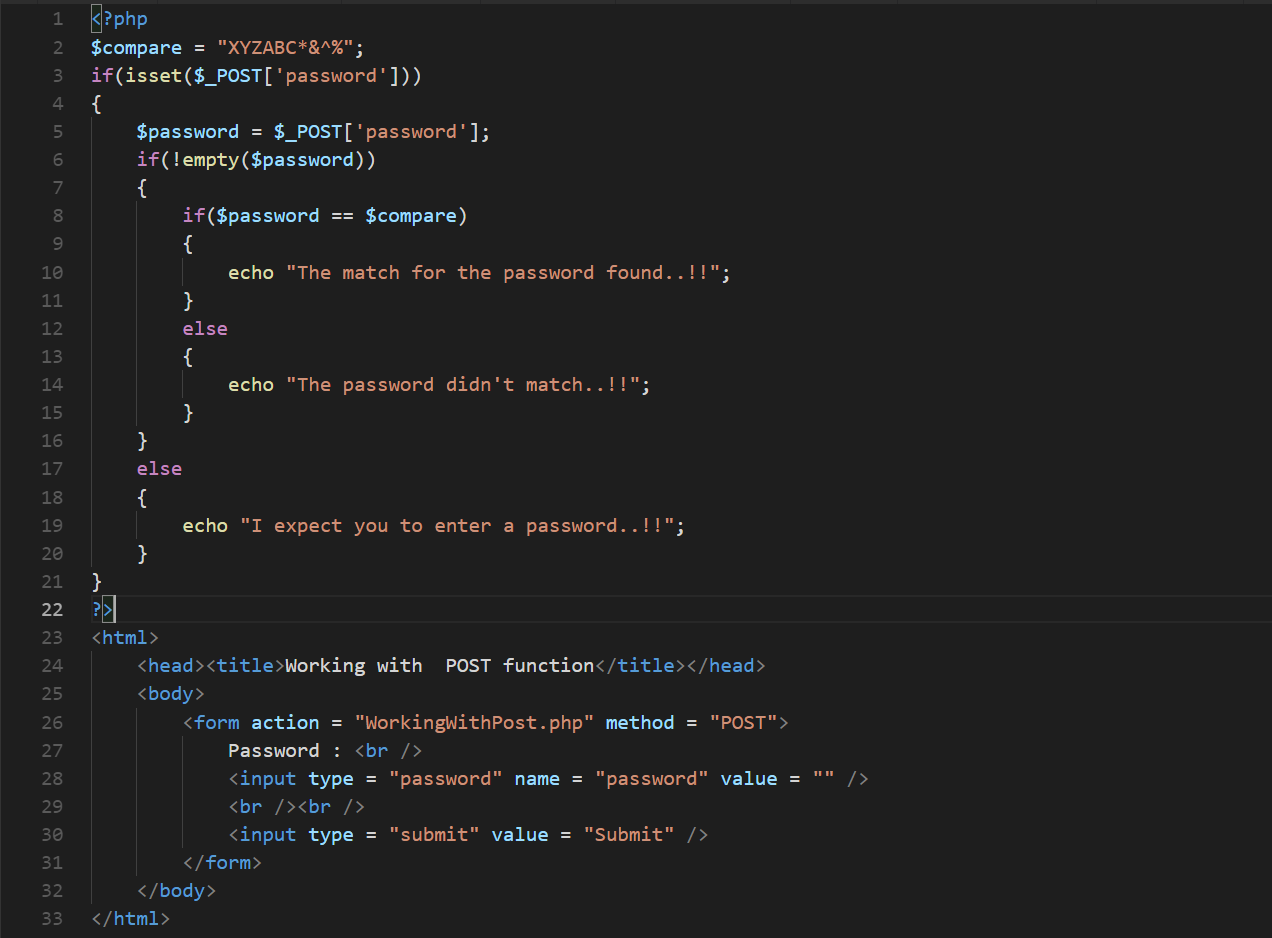 POST request in PHP