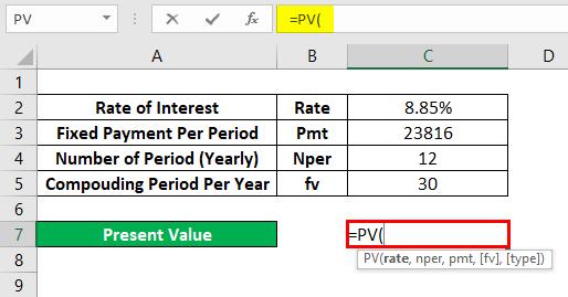 PV Formula Example 2-2