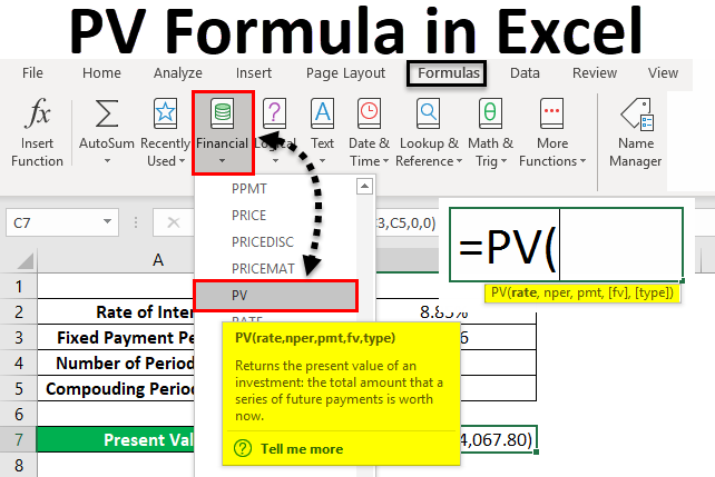PV--in-Excel-1 Table Formatting Excel Examples on excel formatting issues, financial reports examples, excel sheet, excel spreadsheet, excel formatting ideas, excel datatable, powerpivot examples, hardware examples, formula examples, excel dashboard templates, excel table, excel formatting functions,