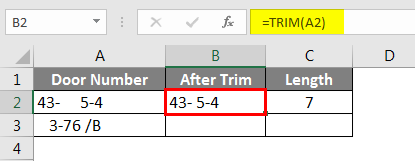 Using Trim Function