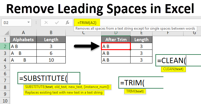 Remove Leading Spaces in Excel