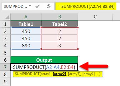 SUMPRODUCT Array formula