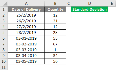 Standard Deviation Formula example 1-1