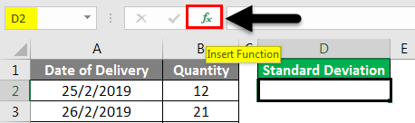 Standard Deviation Formula example 1-2