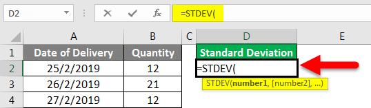 Standard Deviation Formula example 2-2