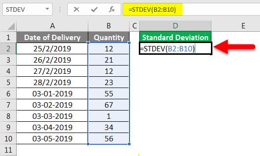 Standard Deviation Formula example 2-3