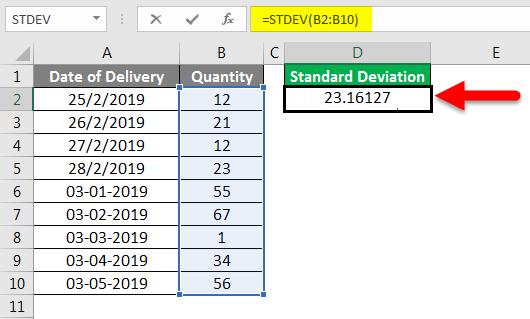 Standard Deviation Formula example 2-4