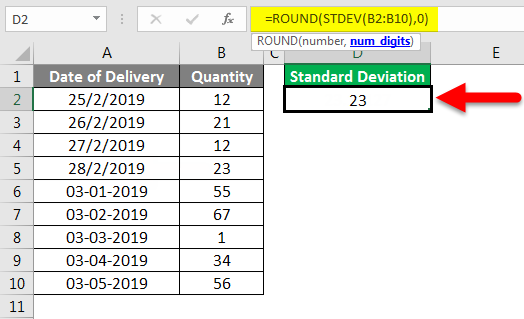 Standard Deviation Formula example 2-6