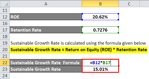 Sustainable Growth Rate Example 2-4