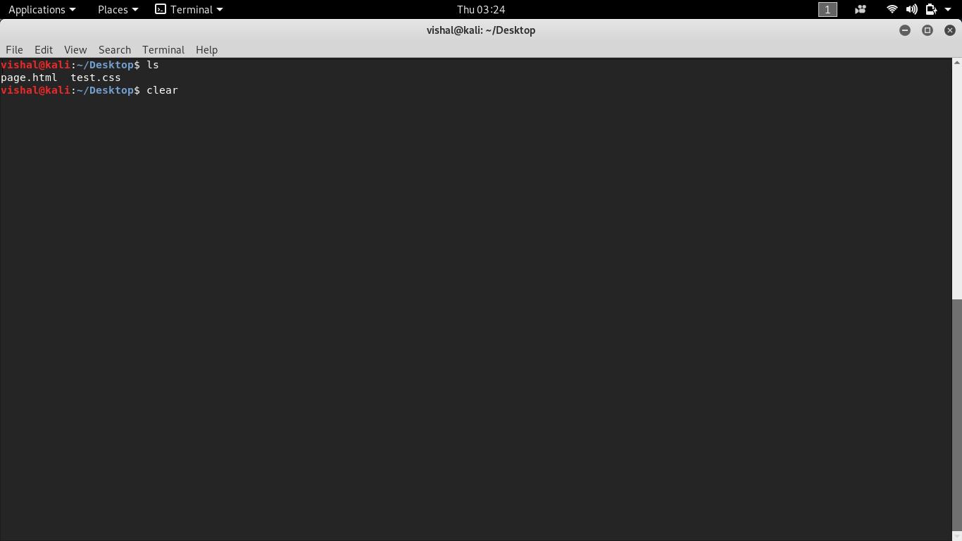 Unix command Clear 1