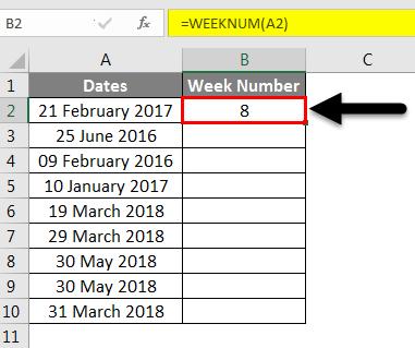 Week Numbers(week starts)