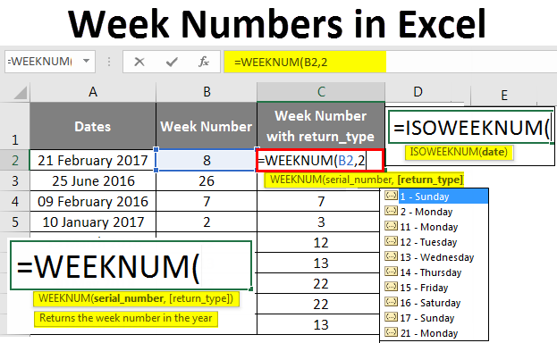 Week Numbers in Excel
