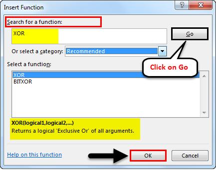 XOR Function Example 1-4