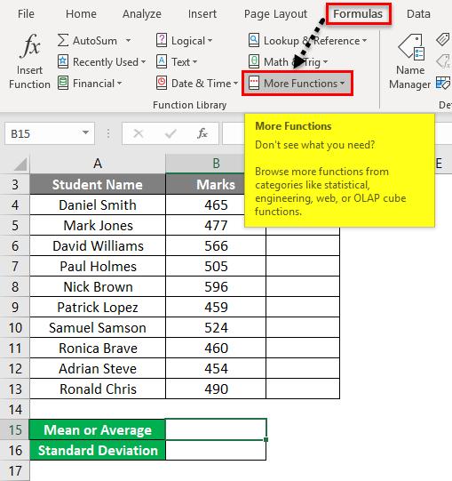 Z Score Example 1-10
