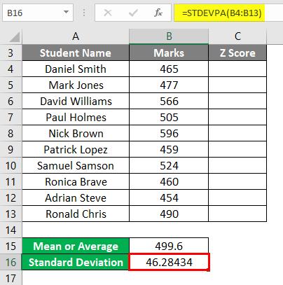 Z Score Example 1-9