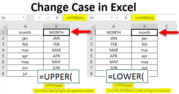 change case in excel