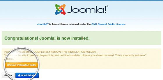 congratulation joomla