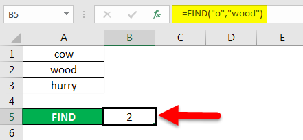 find in excel method 2-4