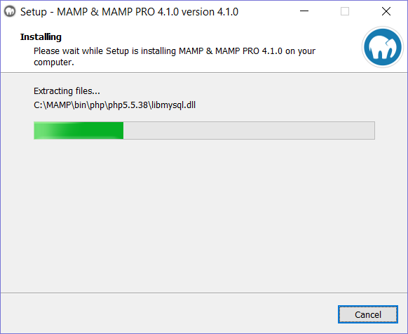 AMP Installation step 5